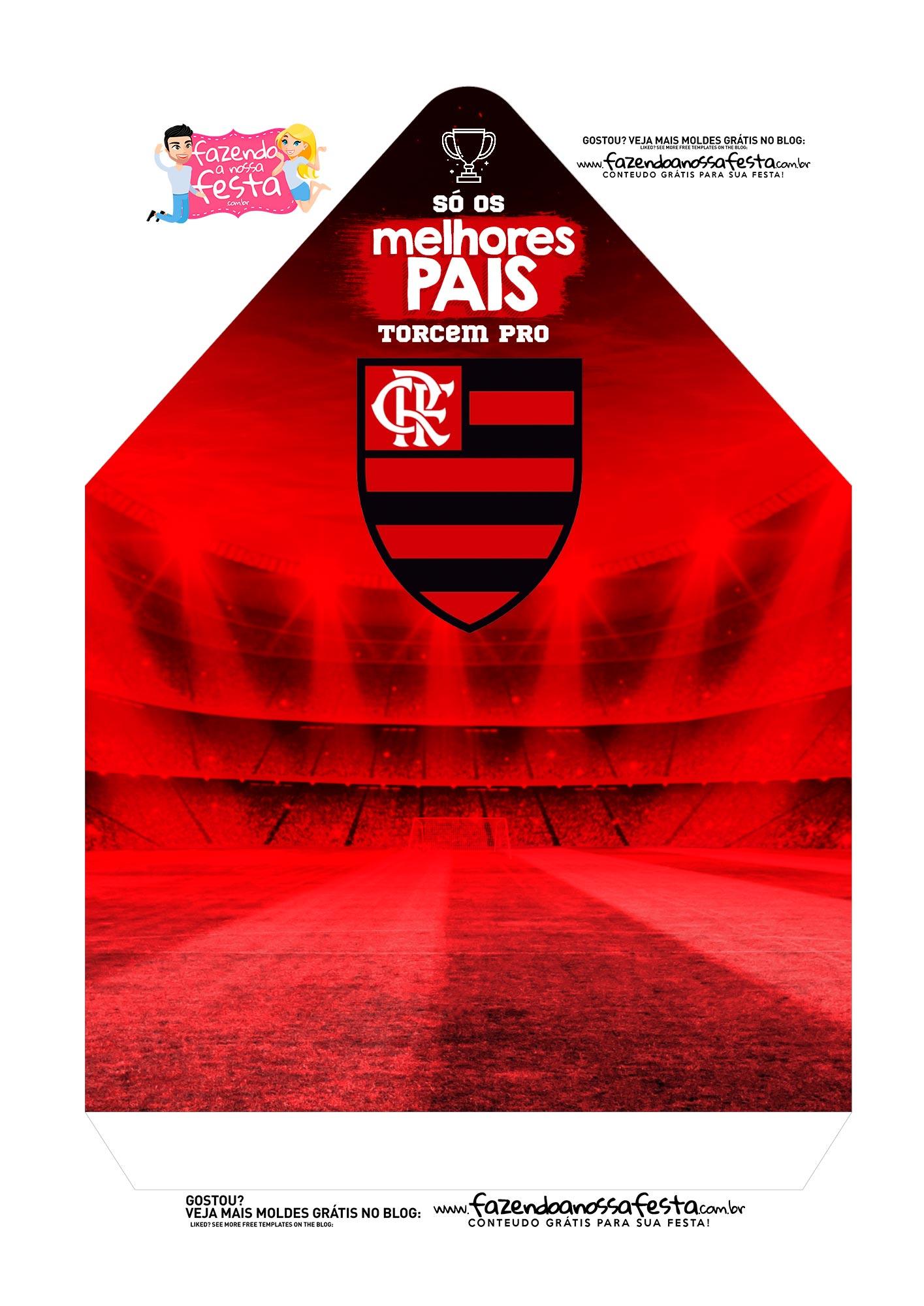 Caixa Envelope Dia dos Pais Flamengo 2