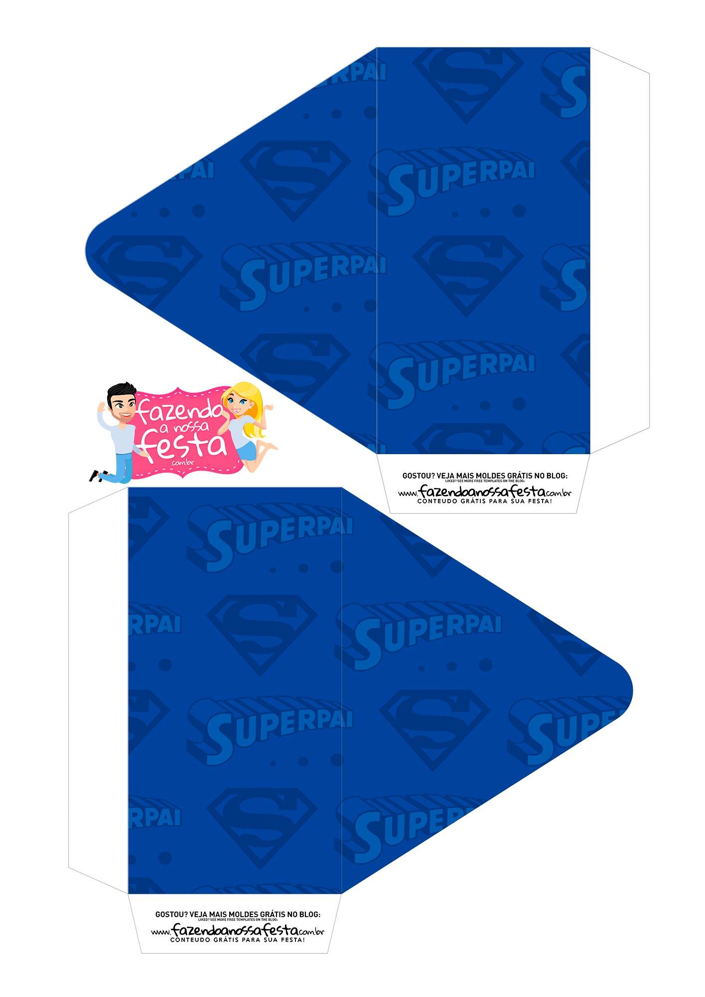 Caixa Envelope Dia dos Pais Super Pai 1