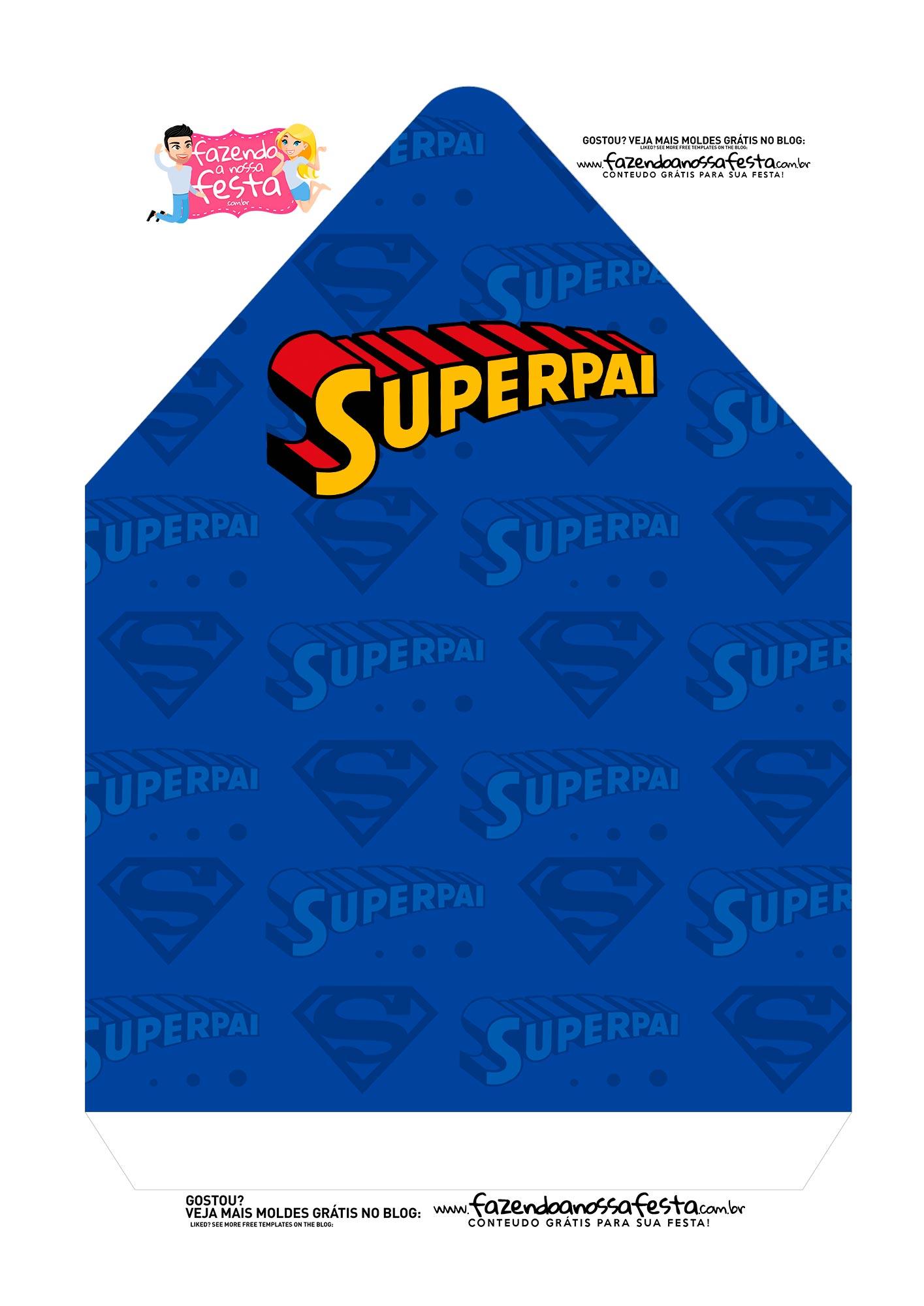 Caixa Envelope Dia dos Pais Super Pai 2