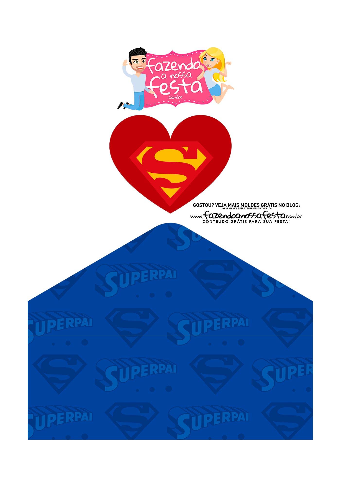 Caixa Envelope Dia dos Pais Super Pai 3