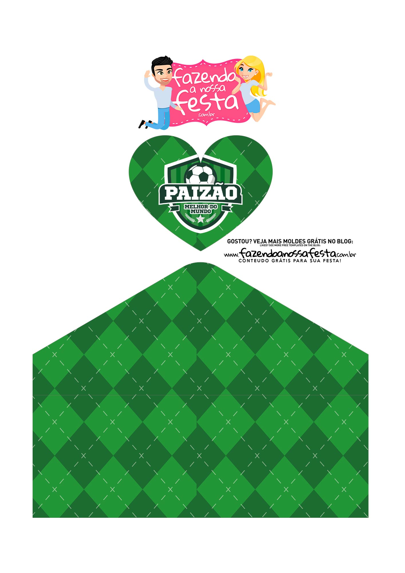Caixa Envelope Futebol 3