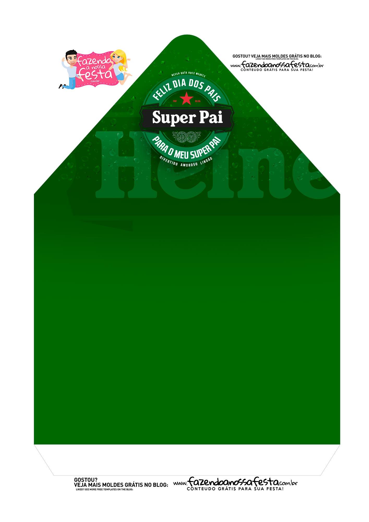 Caixa Envelope Heineken 2