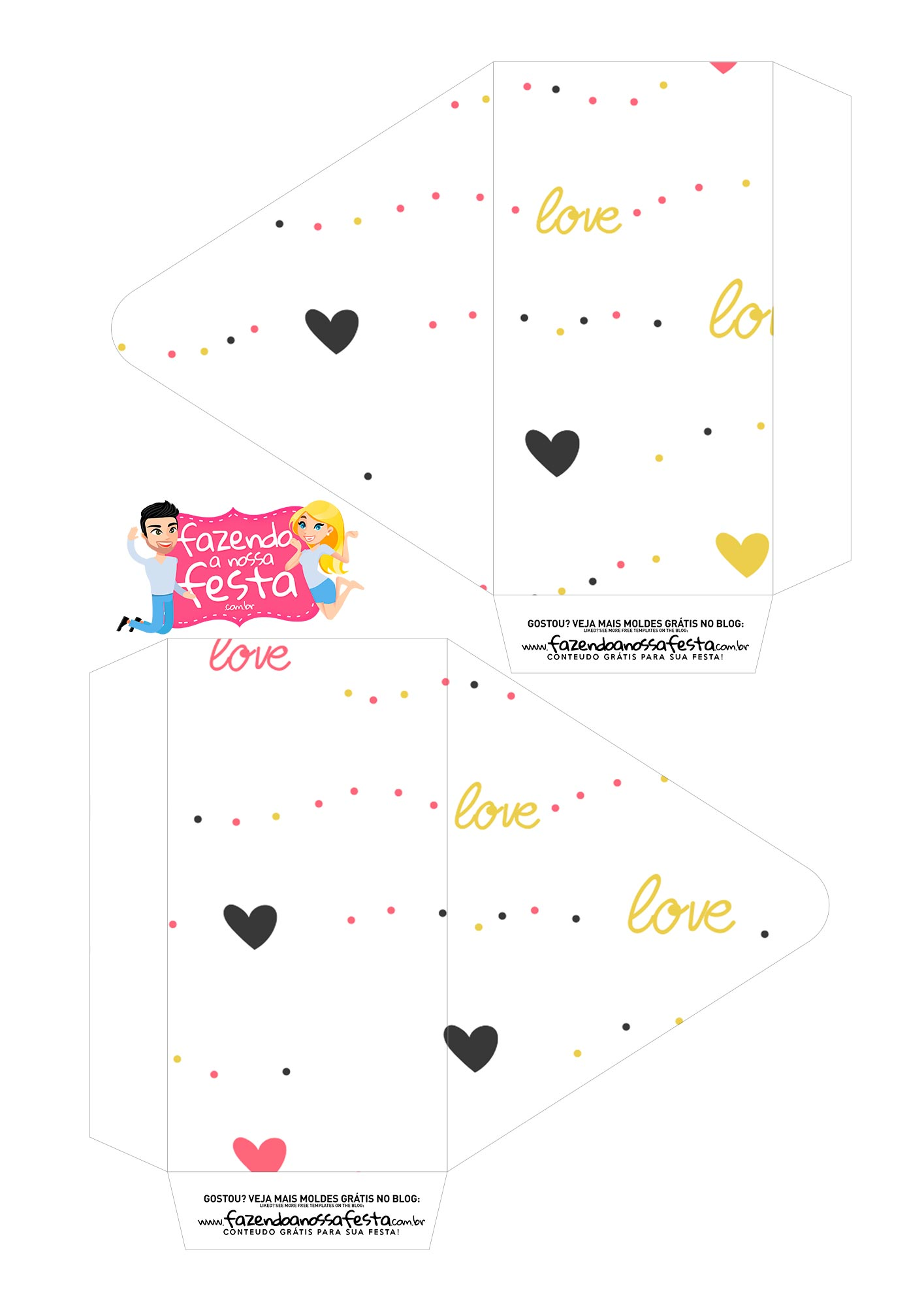 Caixa Envelope Mickey e Minnie 1
