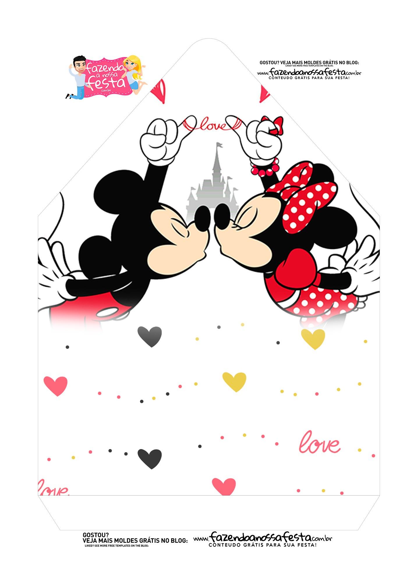 Caixa Envelope Mickey e Minnie 2
