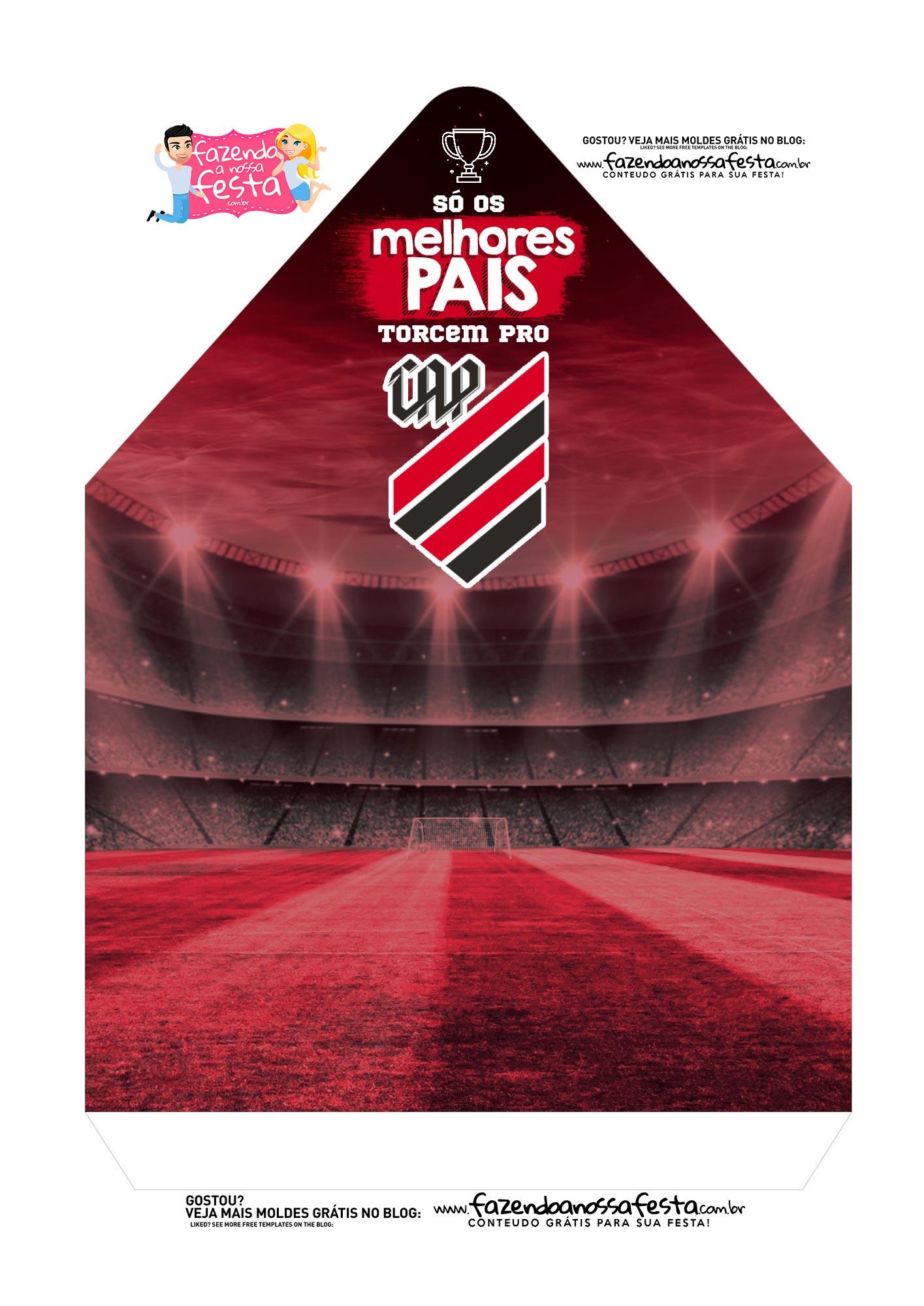 Caixa Envelope Pai Clube Atletico Paranaense 2