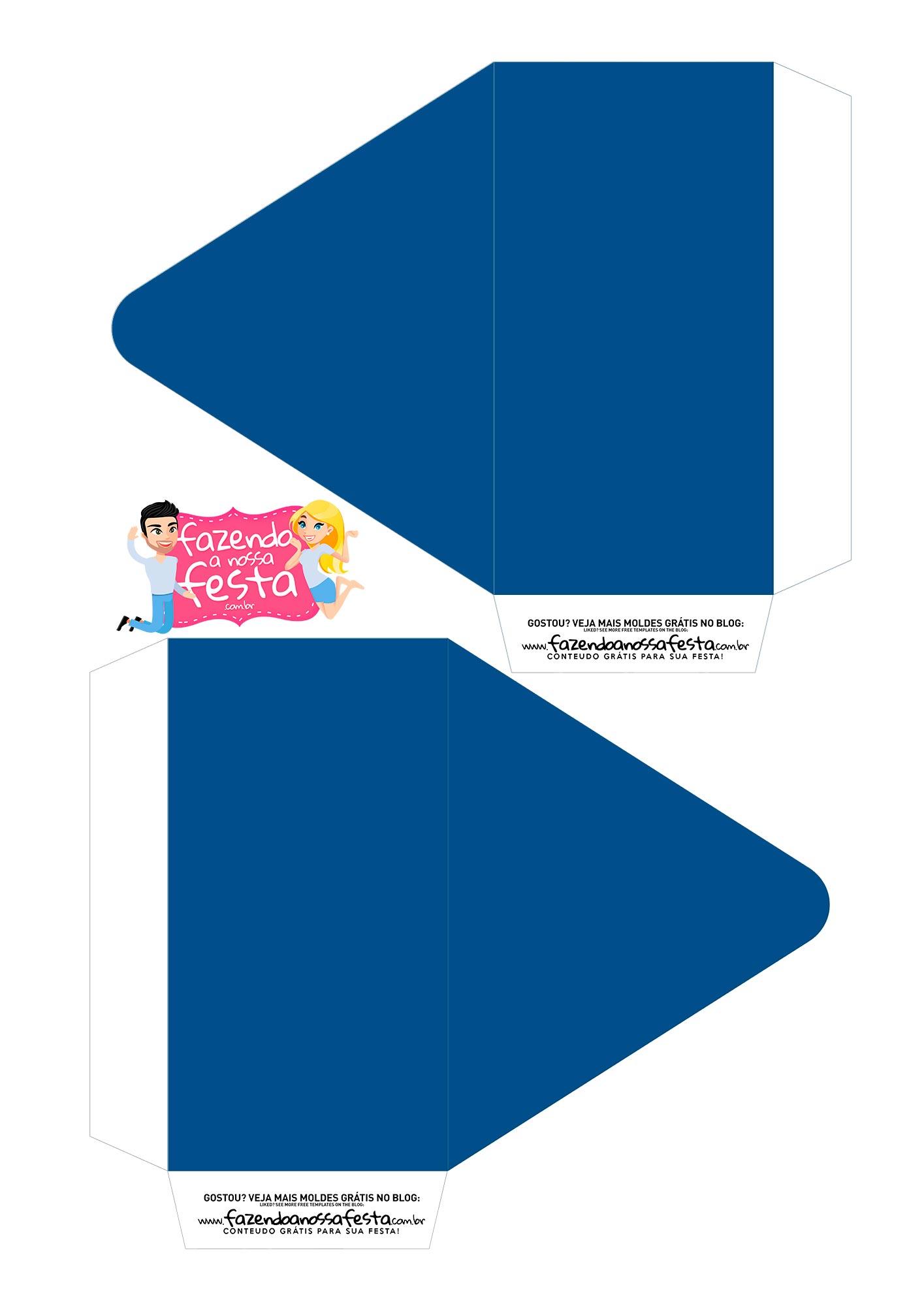 Caixa Envelope Paizao Azul 1