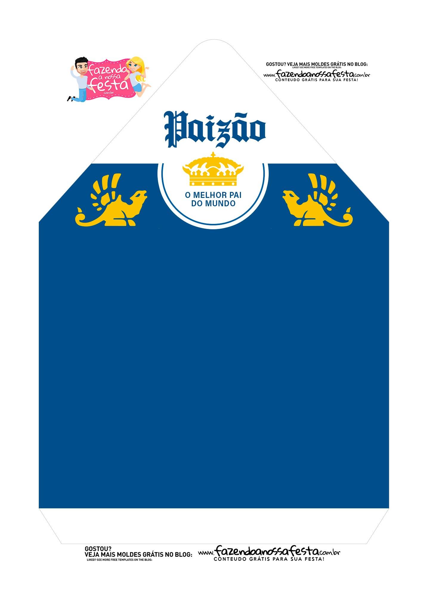 Caixa Envelope Paizao Azul 2
