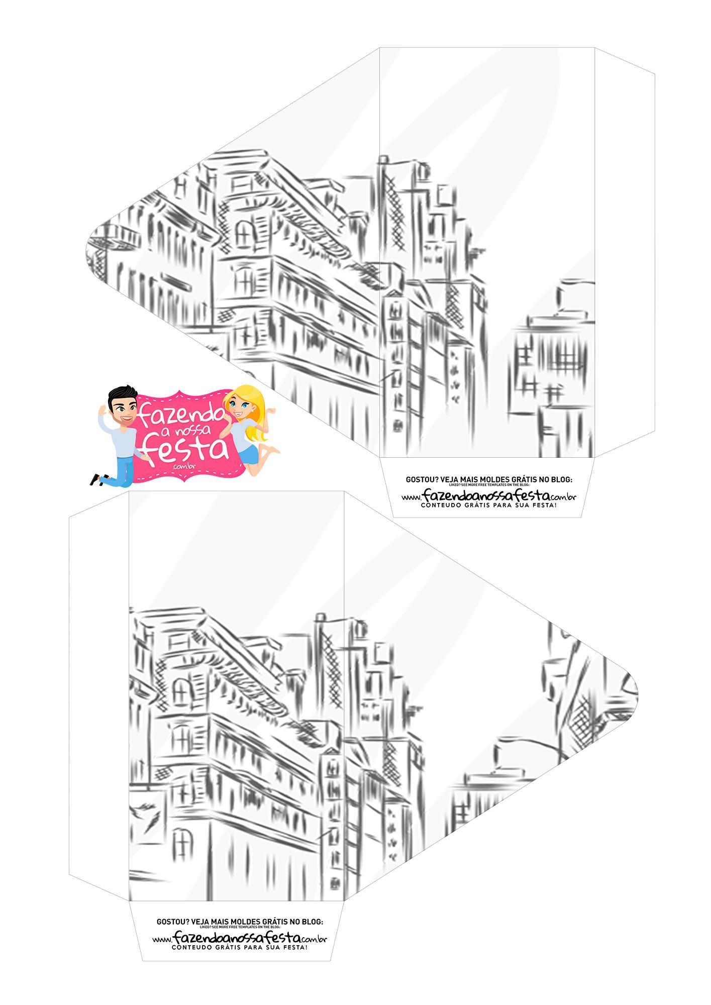 Caixa Envelope Paris Romantico 1