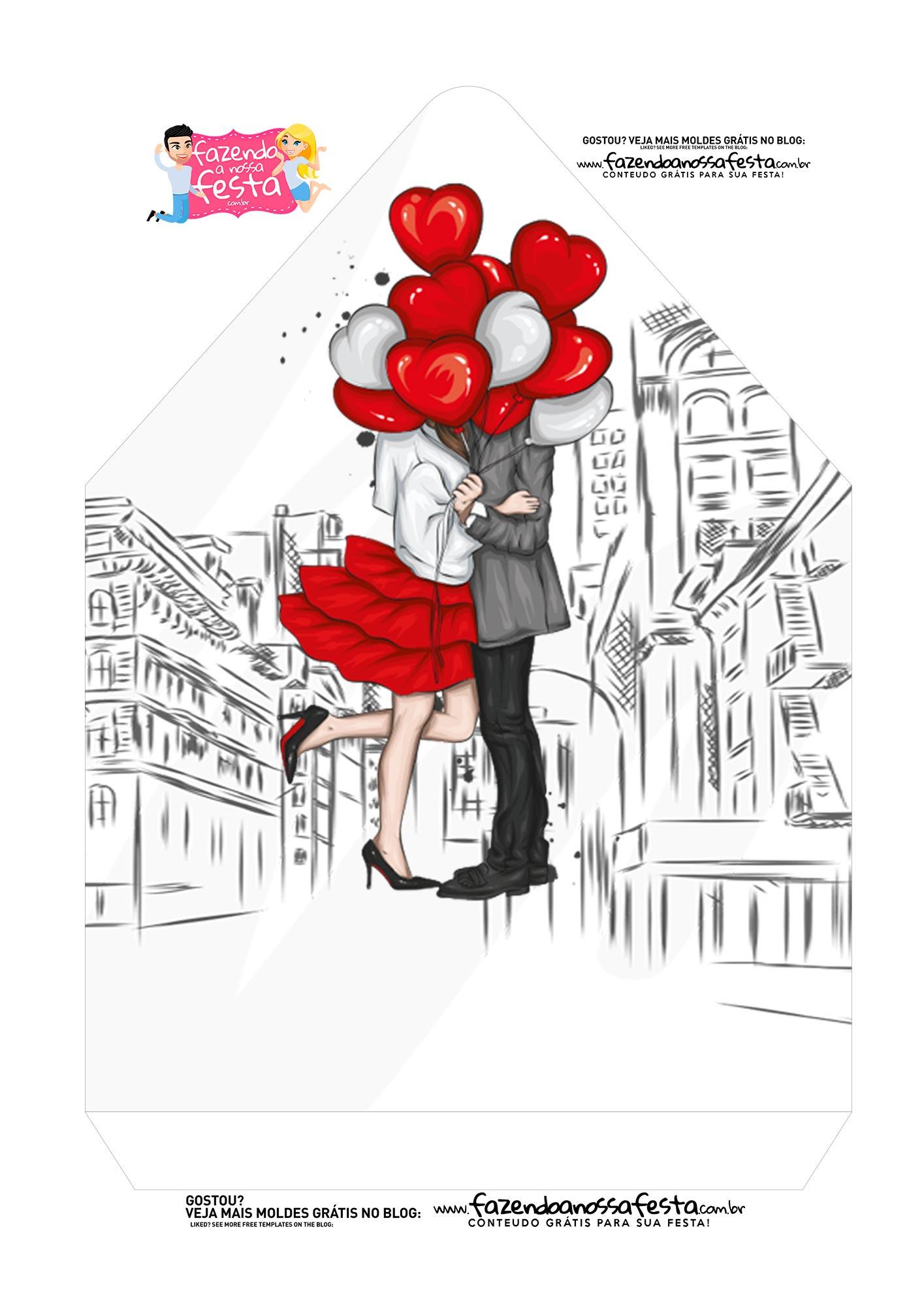 Caixa Envelope Paris Romantico 2