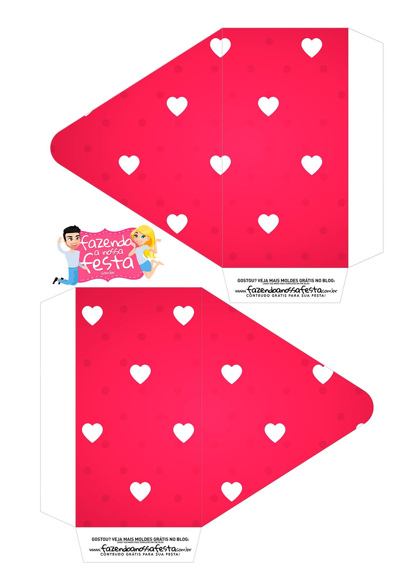 Caixa Envelope Vermelho Coracoes 1
