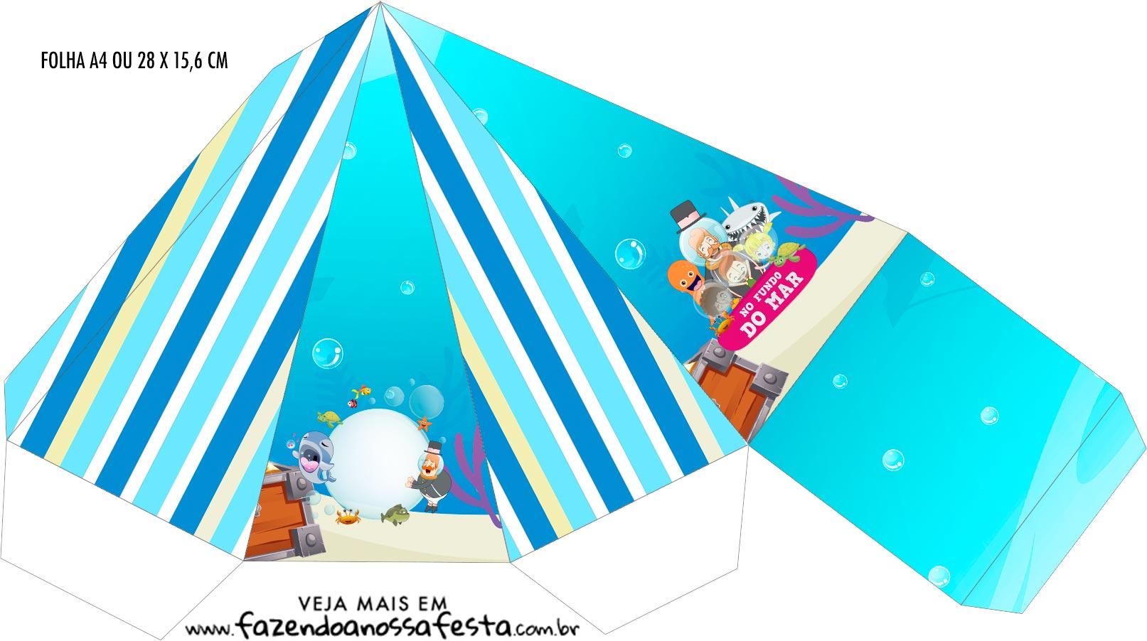 Caixa Piramide Bita no Fundo do Mar