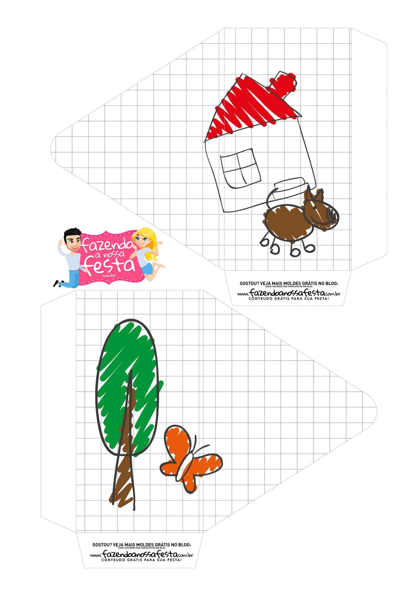 Caixa envelope Desenho Crianca Pai Menina 1