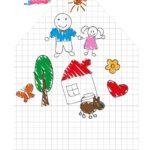 Caixa envelope Desenho Crianca Pai Menina 2