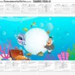 Calendario Personalizado 2021 Bita no Fundo do Mar