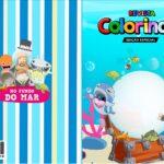 Capa Livrinho para Colorir Bita no Fundo do Mar