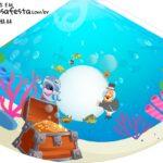 Chapeu de Festa Personalizado Bita no Fundo do Mar