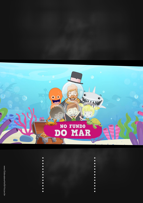 Convite Chalkboard Bita no Fundo do Mar