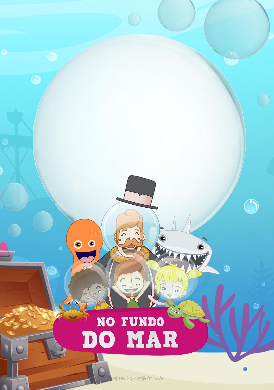 Convite Festa Bita no Fundo do Mar