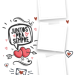 Quadro Dia dos Namorados personalizado