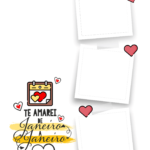 Quadro Dia dos Namorados personalizado com fotos 4