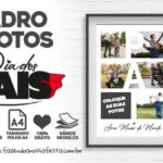 Quadro Dia dos Pais Personalizado com foto gratis