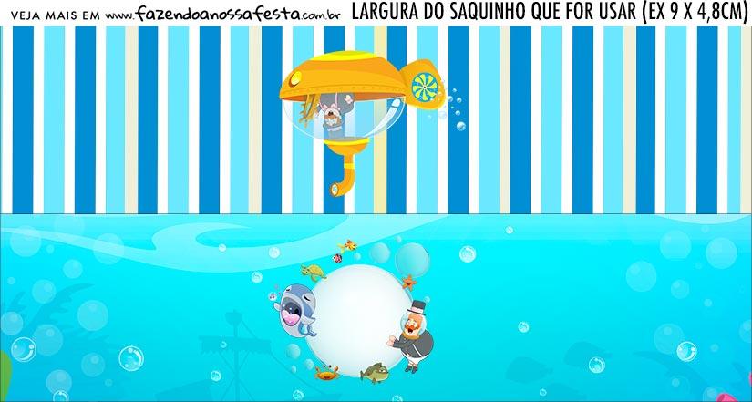 Rotulo Saquinho de Bala Bita no Fundo do Mar