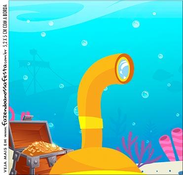Rotulo para Caixa de Acrilico Bita no Fundo do Mar