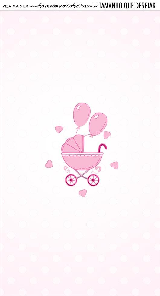 Adesivo Para Imprimir Kit Festa Cha de bebe Menina