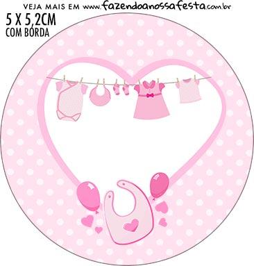 Adesivo para tubetes Kit Festa Cha de bebe Menina