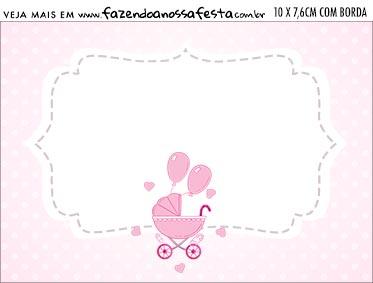 Aviso para Comida Cha de bebe Menina