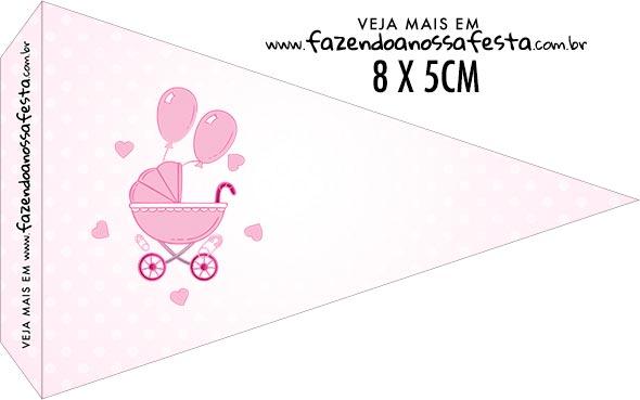 Bandeirinha Sanduiche para imprimir Cha de bebe Menina