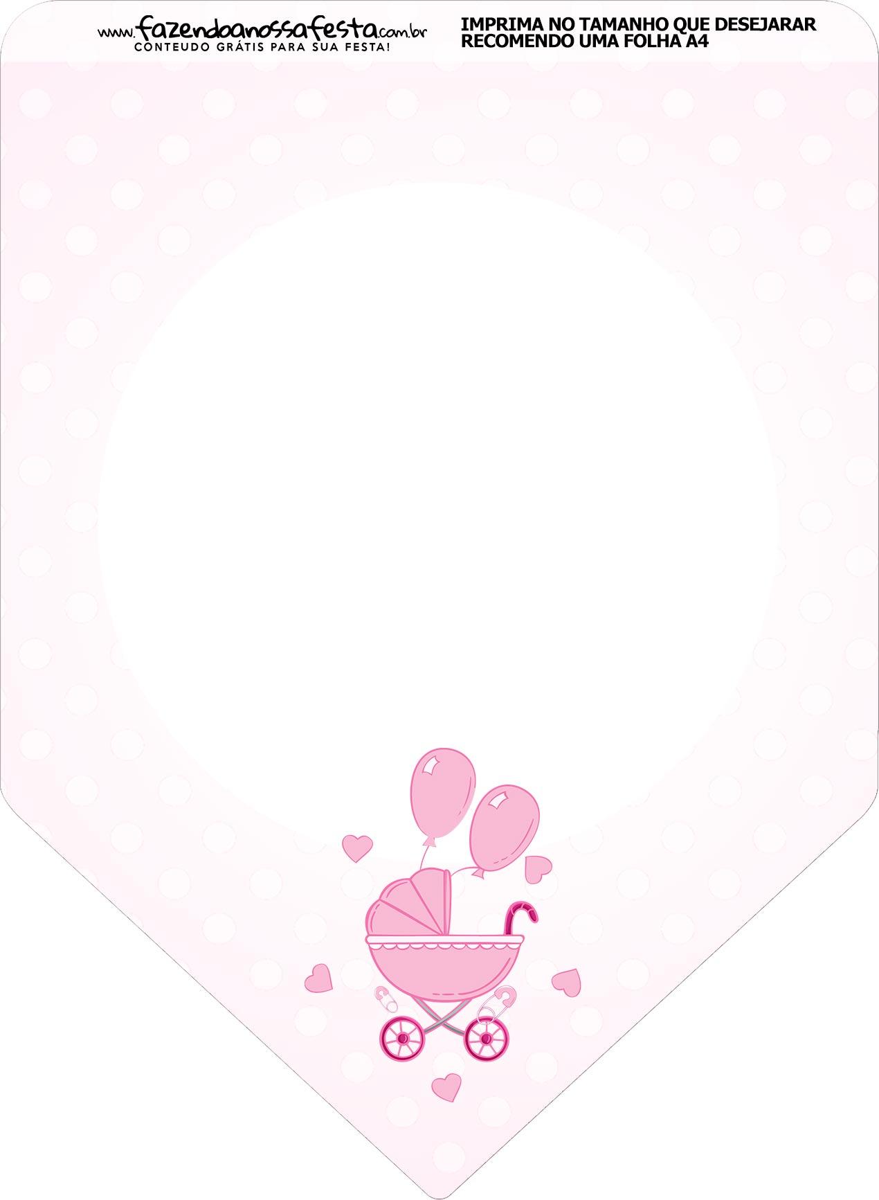 Bandeirinha Varalzinho Cha de bebe Menina