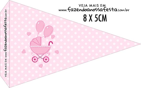 Bandeirinha para sanduiche Cha de bebe Menina