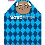 Caixa Dia dos Avos Vovo Azul quadriculado 2