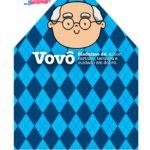 Caixa Dia dos Avos Vovo Azul quadriculado 2 2