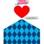 Caixa Dia dos Avos Vovo Azul quadriculado 3