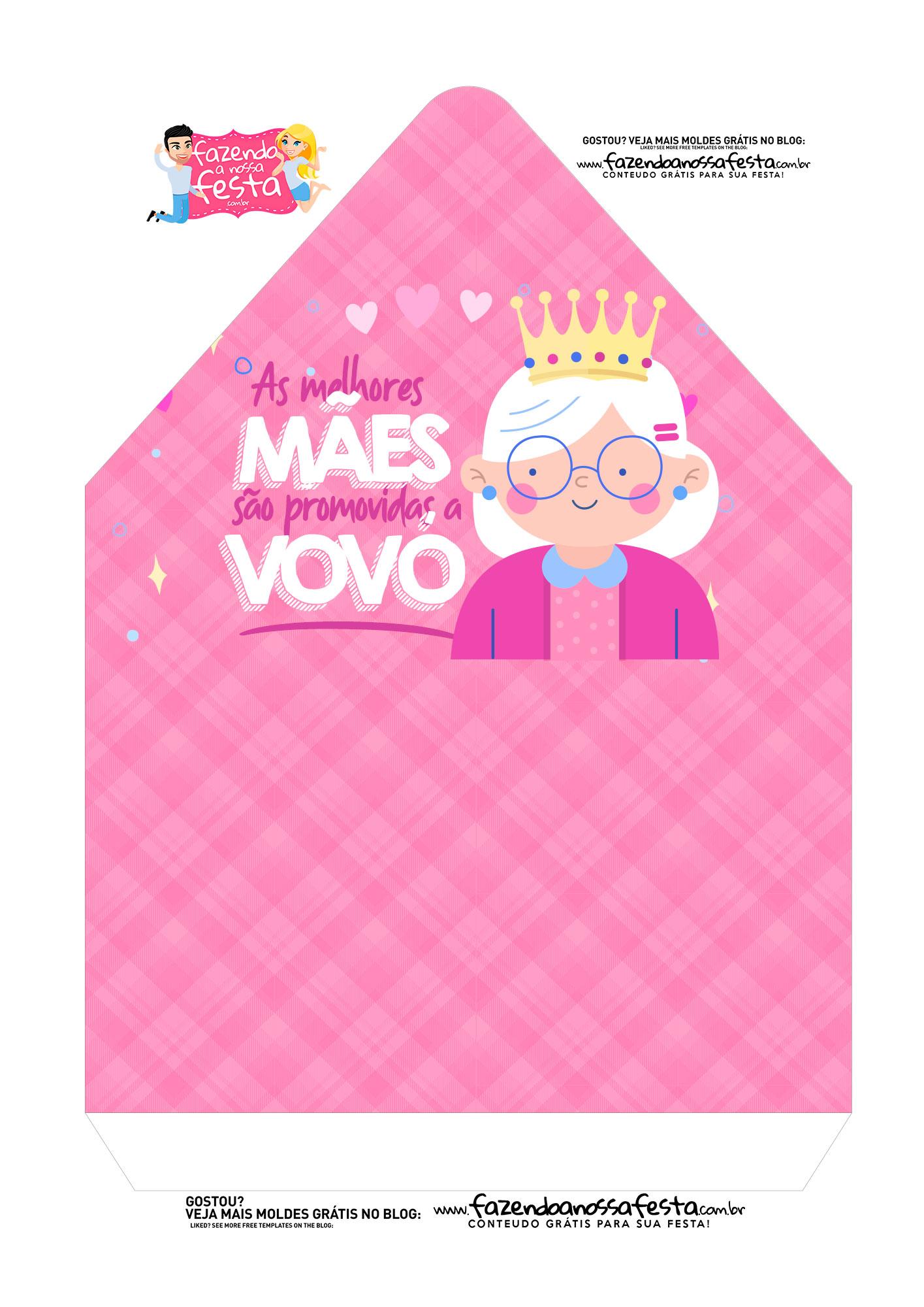 Caixa Envelope Avo Rainha Rosa 2