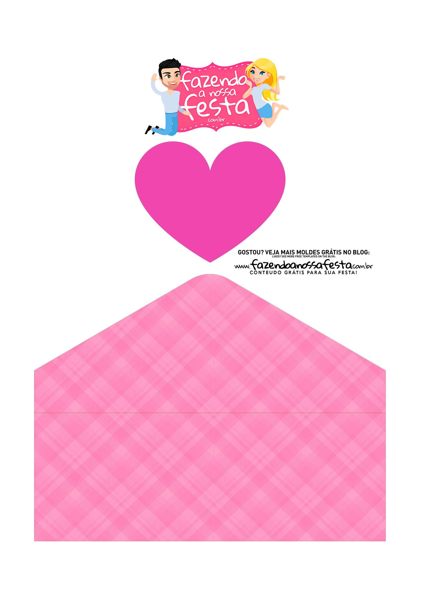 Caixa Envelope Avo Rainha Rosa 3