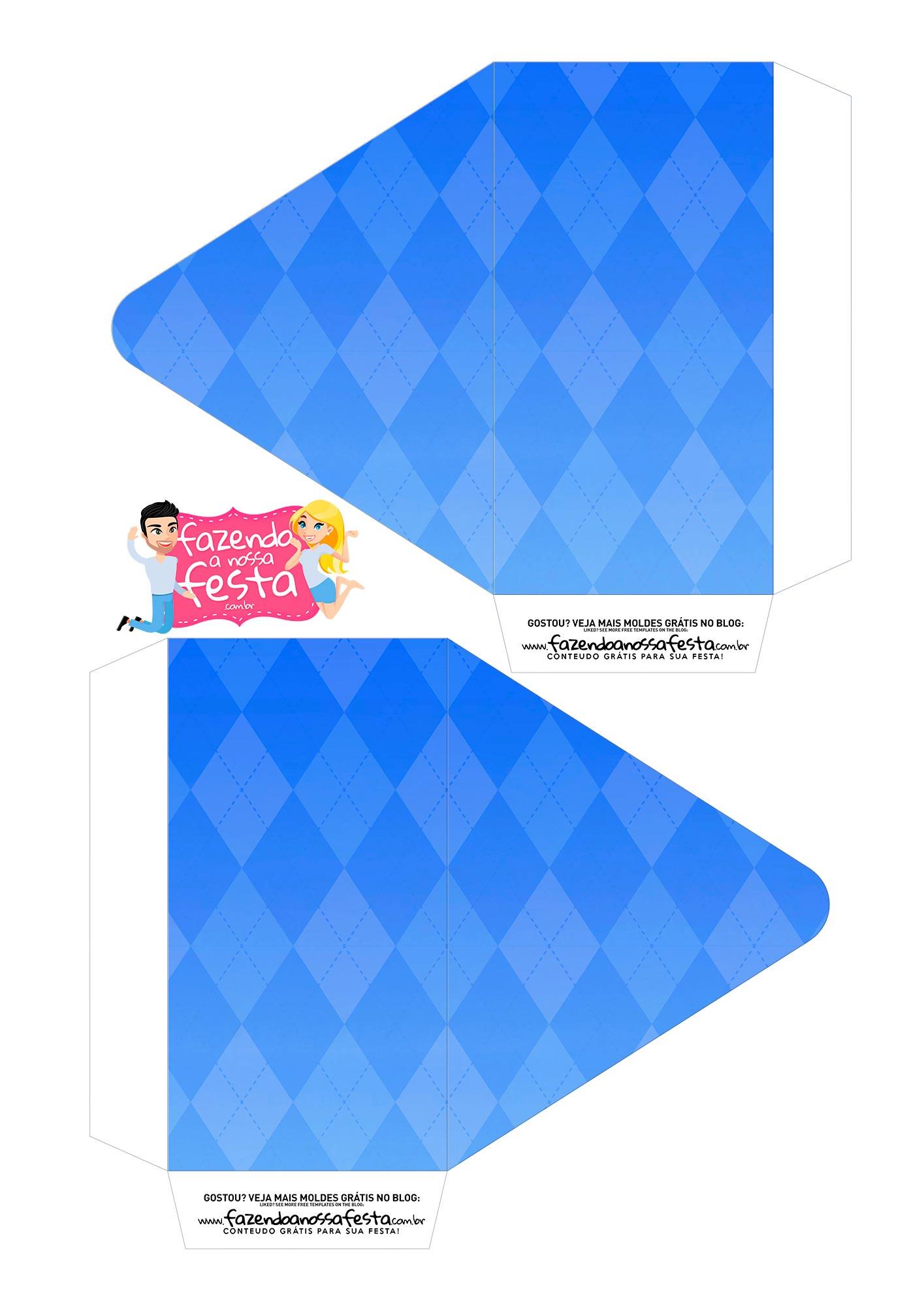 Caixa Envelope Avo azul 1