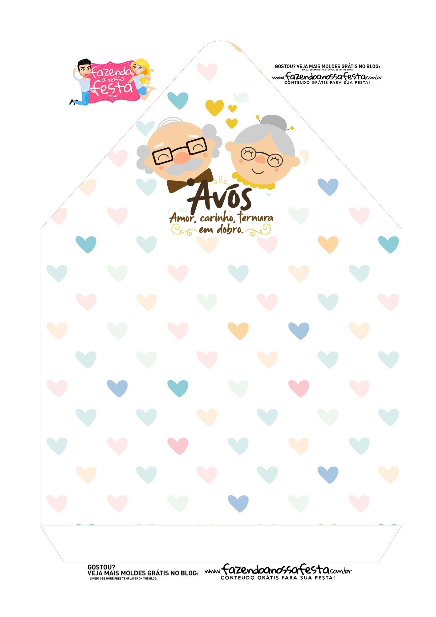 Caixa Envelope Dia dos Avos Coracao 2