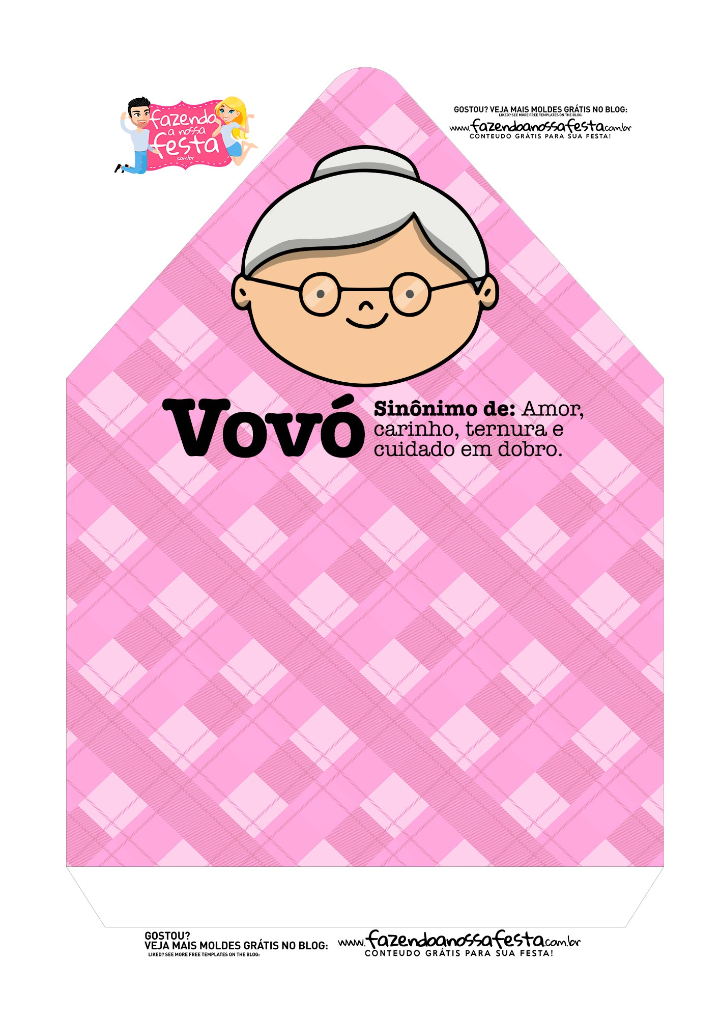 Caixa Envelope Vovo Rosa 2 2