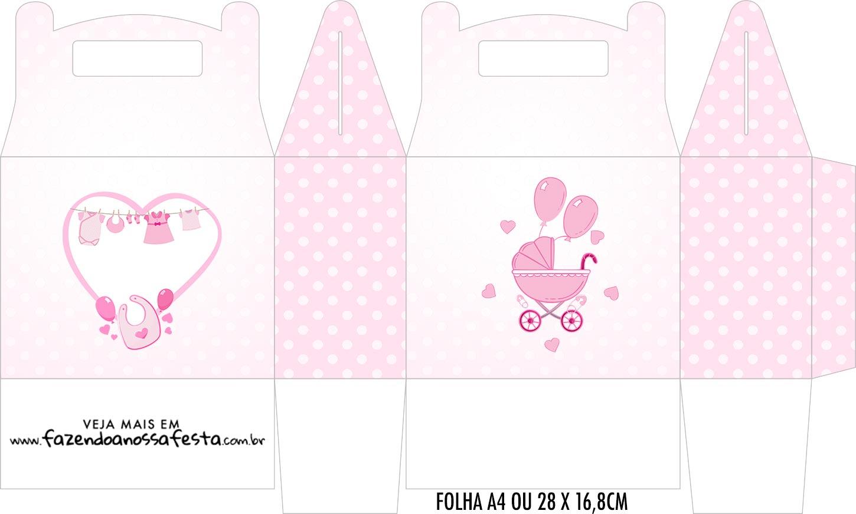 Caixa Maleta Surpresa Cha de bebe Menina