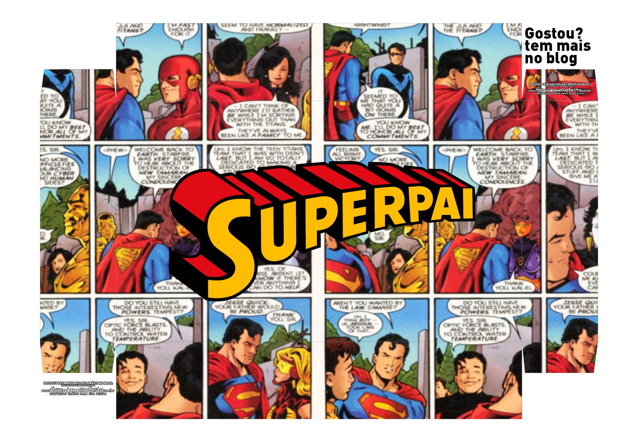 festa na caixa simples para o dia dos pais Tampa SuperPai