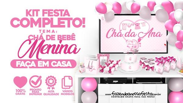 Kit Festa Cha de bebe Menina