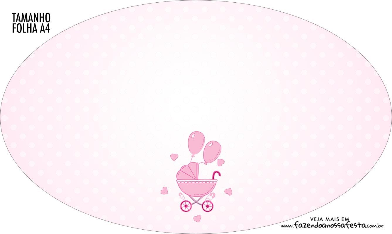 Placa Elipse Cha de bebe Menina
