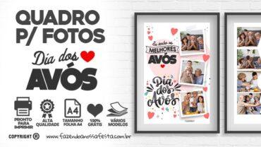 Quadro Dia dos Avos Personalizado com fotos