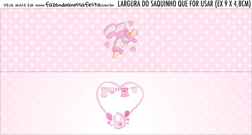 Rotulo Saquinho de Bala Cha de bebe Menina