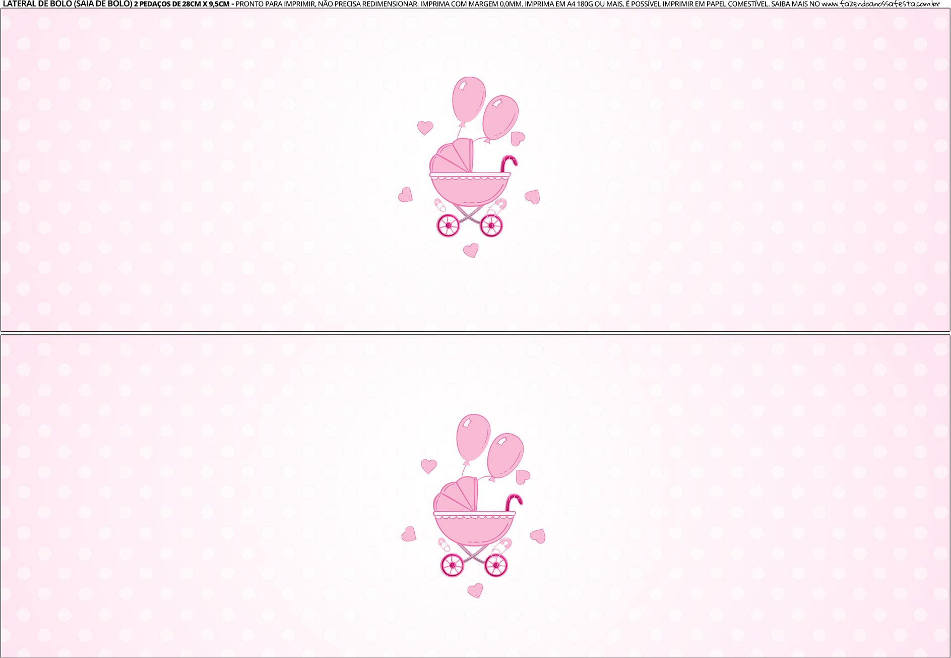 Imprima Saia de bolo Cha de bebe Menina 4