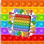 Adesivo Caixa Acrilica Kit Festa Pop It