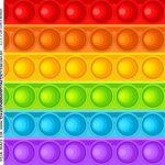 Adesivo Quadrado Kit Festa Fidget Toys